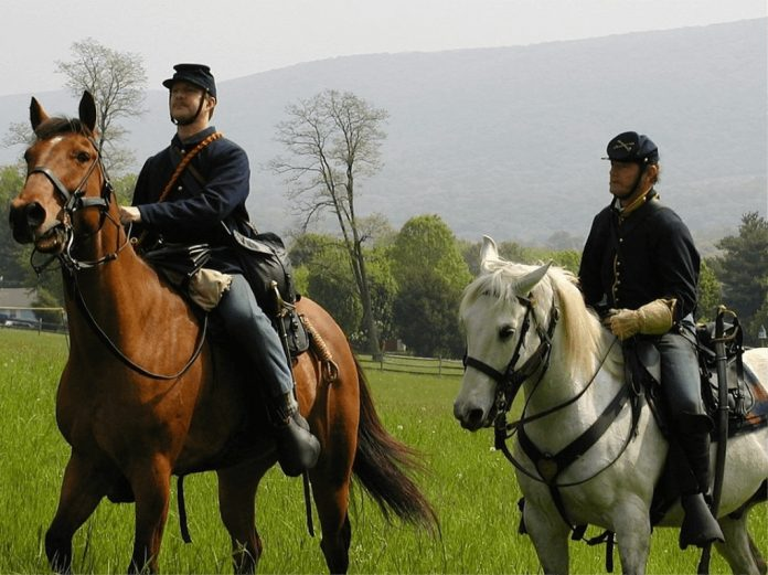 Droop Mountain Mounted Cavalry On Patrol